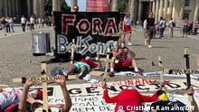 24/07/2021+++Demonstration in Berlin gegen den brasilianischen Präsident Jair Bolsonaro. Copyright: Cristiane Ramalho/DW