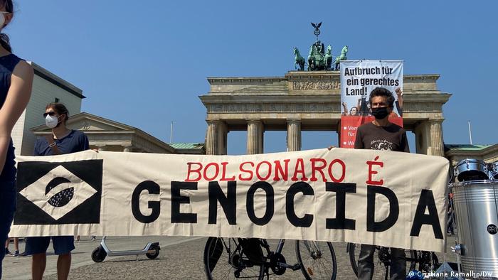 Protesto contra Bolsonaro em Berlin