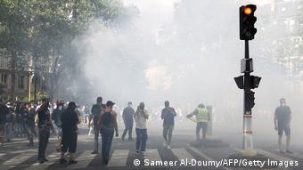 Frankreich I Anti-Corona Proteste in Paris