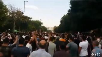 تظاهرات مردم تبریز در حمایت از اعتراضات خوزستان ـ دوم مرداد