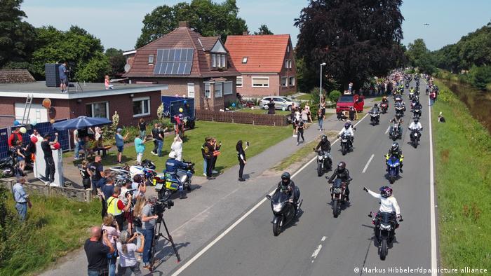 Акция мотоциклистов в Раудерфене