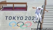 Tokyo 2020 Olympics - Skateboarding - Men's Street - Preliminary Round - Ariake Urban Sports Park - Tokyo, Japan - July 25, 2021. Sora Shirai of Japan in action. REUTERS/Lucy Nicholson