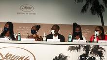 Film Festival Cannes, Mahamat Saleh Haroun und Schauspieler, Juli 2021