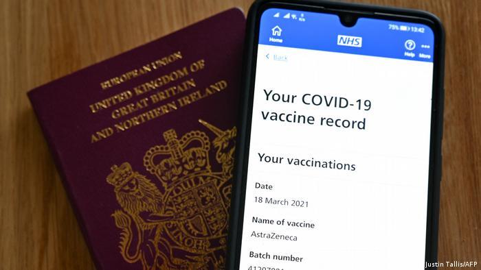 UK Coronavirus COVID passport