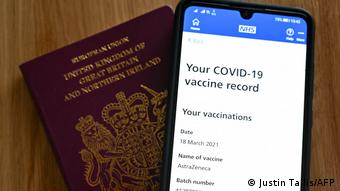 UK Coronavirus l Britischer Impfpass