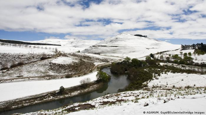 Заснеженные районы ЮАР, фото из архива