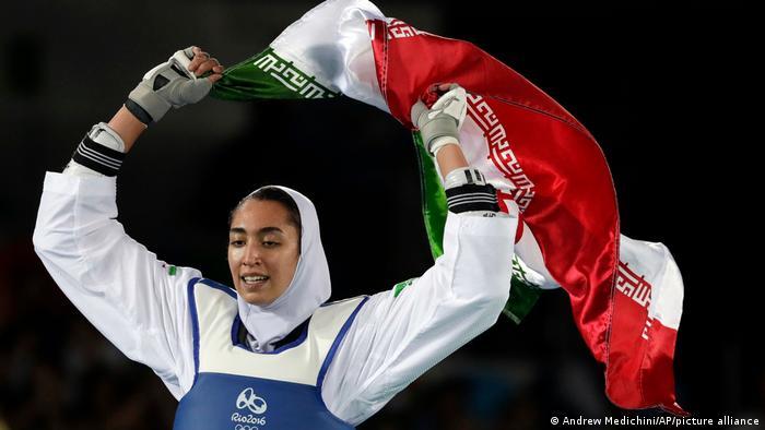Olympia 2016 Rio l Taekwondo - Kimia Alizadeh Zenoorin gewinnt Bronze, Iranische Flagge