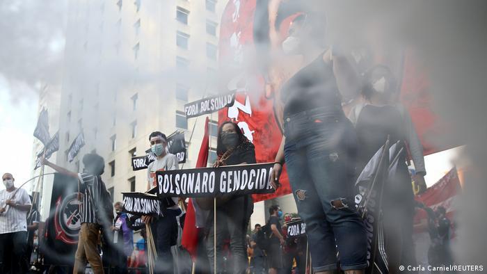 Protesto contra Jair Bolsonaro em São Paulo