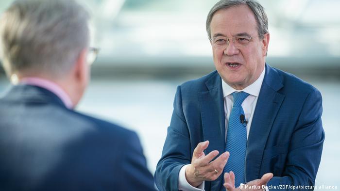 Der CDU-Chef und Unions-Kanzlerkandidat Armin Laschet im ZDF-Sommerinterview