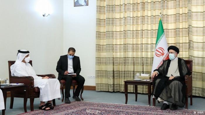 دیدار وزیر خارجه قطر با ابراهیم رئیسی