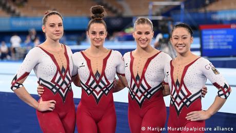 German women's gym team at Tokyo 2020