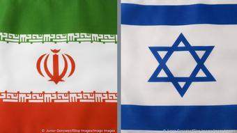 Οι σημαίες του Ιράν και του Ισραήλ