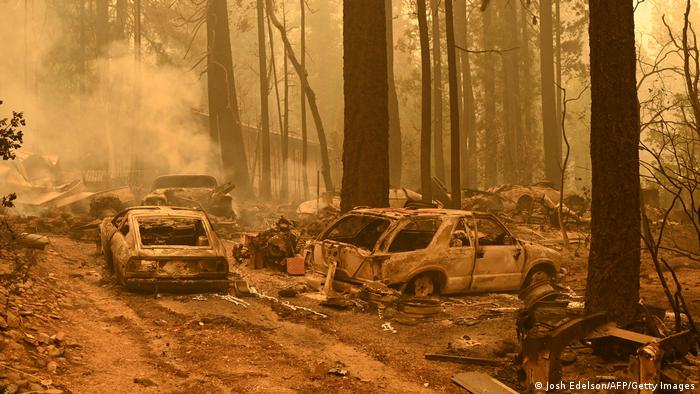 Burned vehicles in the Indian Falls area of Plumas County