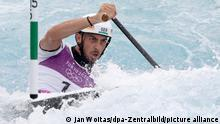 26.7.21 Kanu/Slalom: Olympia, Canadier-Einer, Halbfinale im Kasai Canoe Slalom Centre. Sideris Tasiadis aus Deutschland in Aktion. +++ dpa-Bildfunk +++