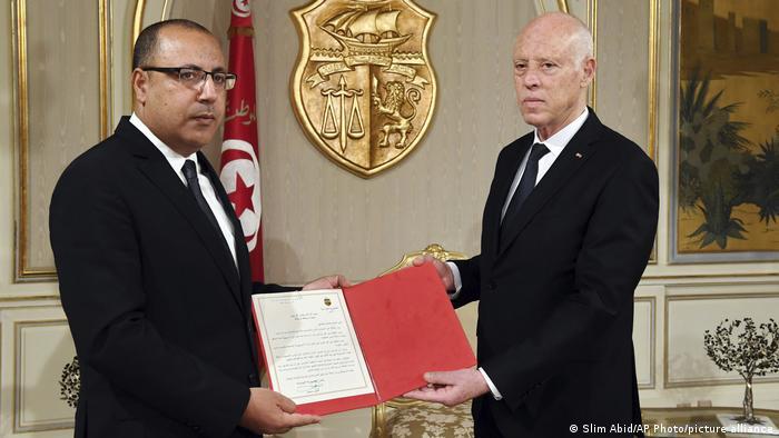 Tunesien Tunis |Kais Saied, Präsident & Hichem Mechichi, Premierminister