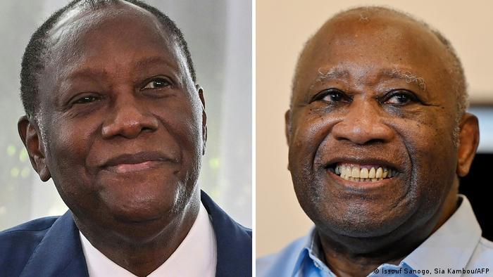 Alassane Ouattara et Laurent Gbagbo, deux hommes politiques au centre de la crise ivoirienne