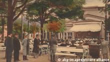 5-K18-D1-1915-1 (362507) Bad Kissingen, Kurgarten / Bildpostkarte Bad Kissingen (Unterfranken), Kurgarten. - 'Bad Kissingen / Kurgarten / Nach- mittagskonzert'. - Bildpostkarte (Farbdruck nach kolorier- ter Photographie), undat., um 1910.
