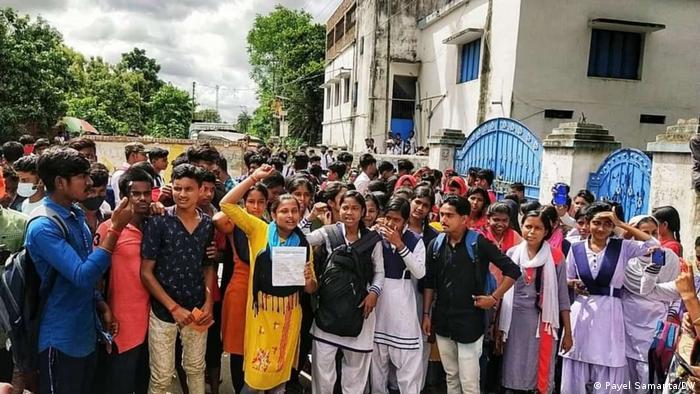 Studentenproteste in West Bengal