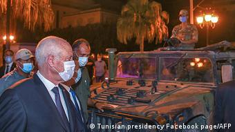 Tunesien Krise l Entmachtung des Ministerpräsidenten l Präsident Kais Saied