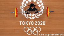 Tokyo 2020 Olympics - Weightlifting - Women's 55kg - Group A - Tokyo International Forum, Tokyo, Japan - July 26, 2021. Ana Lopez of Mexico in action. Pool via REUTERS/Chris Graythen