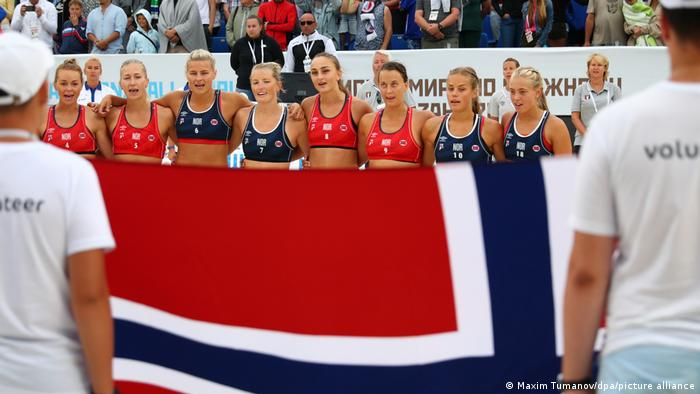 Norway's beach handball team