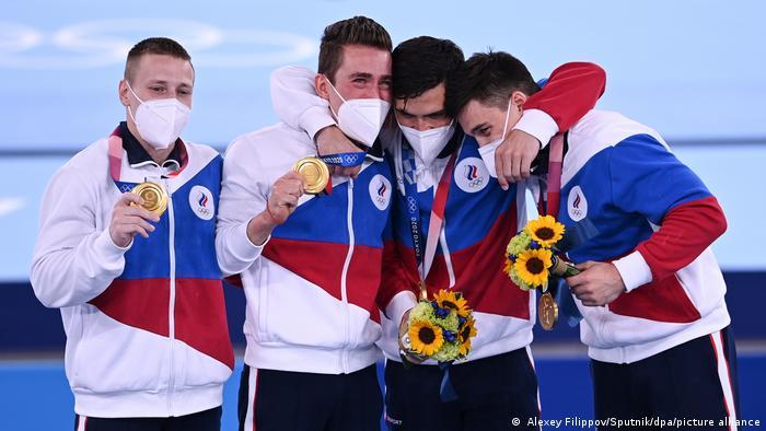 Российские спортивные гимнасты выиграли на Олимпиаде в Токио командный турнир в многоборье