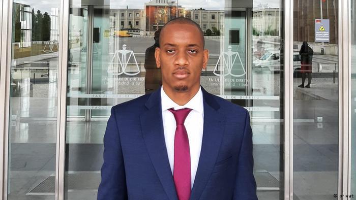 Amadu Tidjane Baldé na Faculdade de Direito de Lisboa.