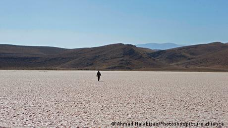Maharloo Lake in southwest Iran