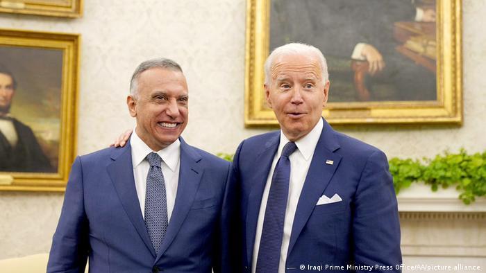 USA Präsident Biden trifft sich mit dem irakischen Premierminister im Oval Office