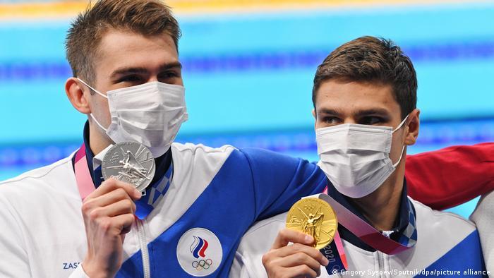 Российские пловцы Климент Колесников и Евгений Рылов на летней Олимпиаде в Токио