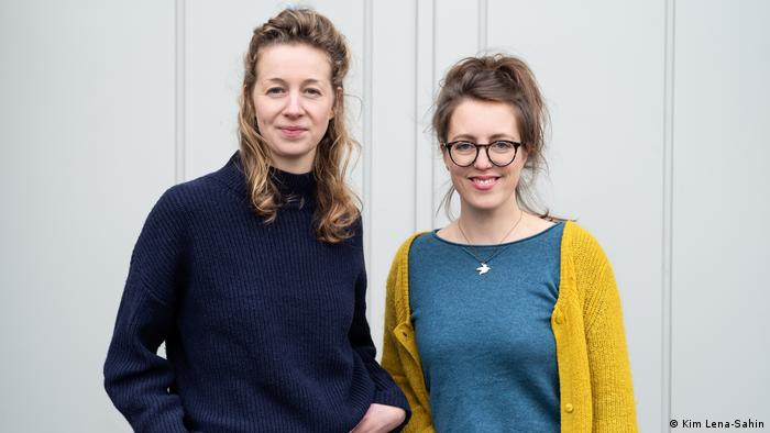 Antonia Traulsen and Claire Roggan, two women look at the camera