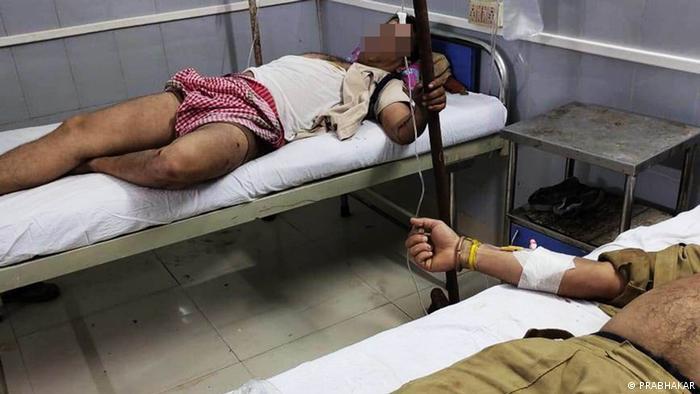 Indien l Grenzkonflikt, Assam und Mizoram l Verletzter Polizist
