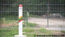 Grenze zwischen Belarus und Litauen