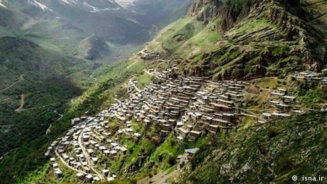 Die Landschaft Oramanat in iranischen Kurdistan