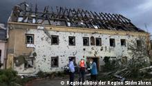 Tschechien. Das Dorf Moravska Nova einen Monat nach dem Tornado