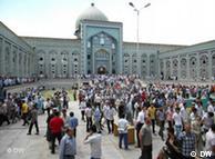 محوطه مسجد خوجه یعقوب در پایتخت تاجیکستان