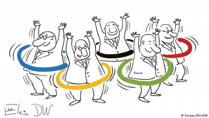 Sergey Elkin Karikatur | Bürokratie | Olympische Spiele