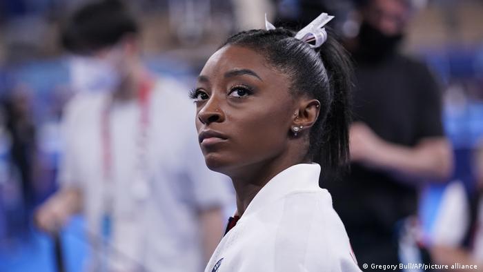 Simone Biles bei den Olympischen Spielen 2020 in Tokio