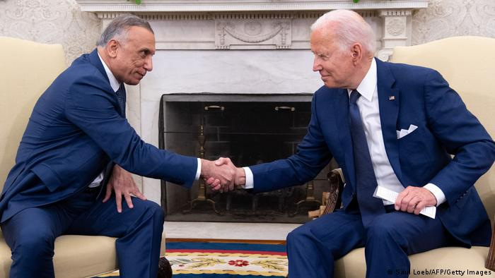 USA Washington | US Präsident Biden und Premierminister Mustafa Al-Kadhim