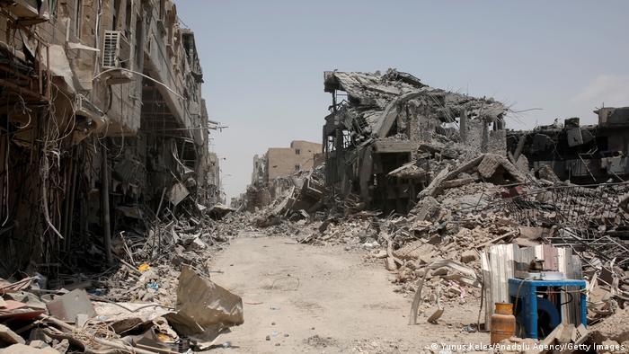 Irak Mosul   Kriegszone   Zerstörte Gebäude