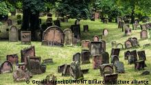 Headstones at the Jewish cemetery in Worms