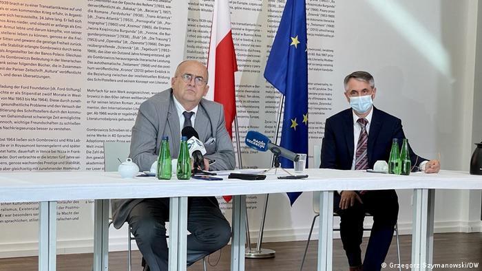 Zbigniew Rau podczas konferencji w Instytucie Polskim w Berlinie, 27 lipca 2021 r.