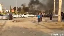 Protest in iranische Stadt Kermanshah. 20 Personen wurden verhaftet.