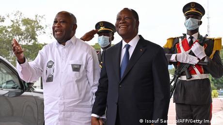 Elfenbeinküste I Alassane Ouattara und Laurent Gbagbo in Abidjan