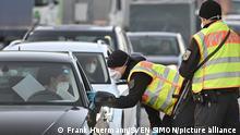 Deutschland Grenzkontrollen an der Grenze bei Kiefersfelden