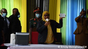 Tansanian Präsident Samia Hassan Suluhu Impfung