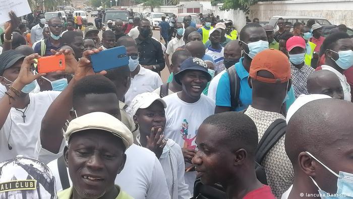 Guinea-Bissau UNTG Protest in Bissau