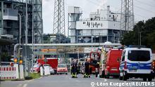 A view shows Chempark following an explosion in Leverkusen, Germany, July 27, 2021. REUTERS/Leon Kuegeler