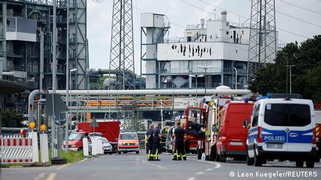 A view shows Chempark following an explosion in Leverkusen