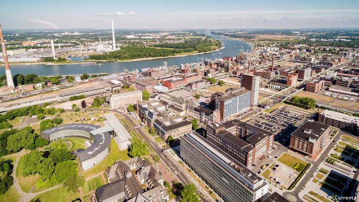 Birds-eye view of the Chemical Park, Leverkusen
